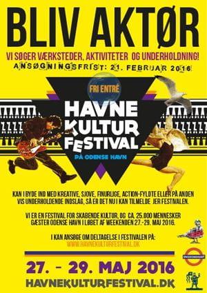 Bliv aktør på Odense Havnekulturfestival 2016